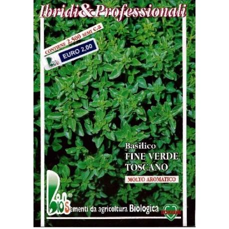 semillas ecológicas de albahaca fina de la Toscana