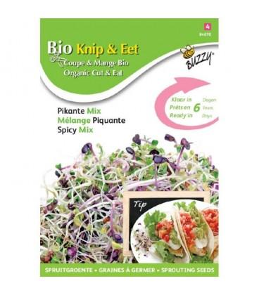 germinados ecológicos - mezcla picante para ensaladas