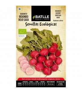 rabanito redondo rojo saxa - semillas ecológicas