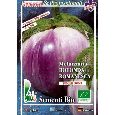 semillas ecologicas de berenjena redonda romanesca