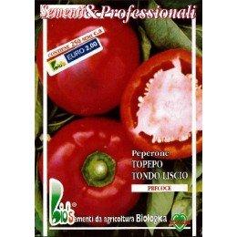 pimiento topepo redondo liso (semillas ecológicas)