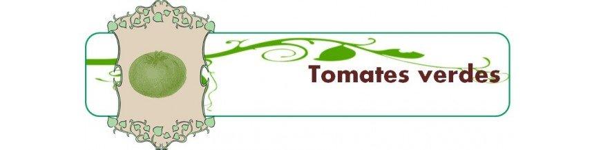 tomates verdes, amarillos y bicolores