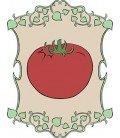 tomates rojos y rosas